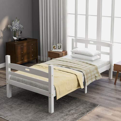 Miracle Girl Bettrahmen mit Lattenrost Gästebett Metallbett Bettrahmen Plattform Basis Jugendbett Doppelbett schwarzes Schlafzimmerbett einfach zu Schnelle montieren gepolsterter Plattform