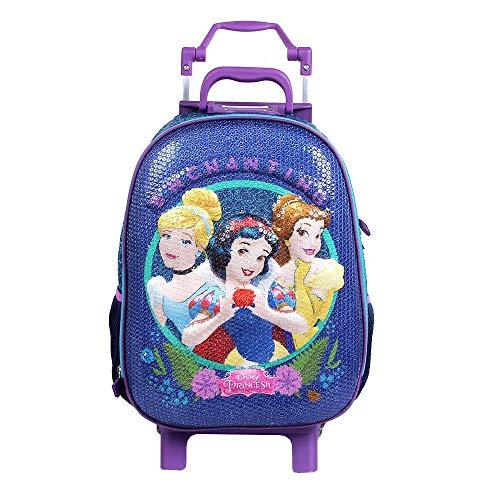 Mochilete G 3d com Lantejoulas Princesas Disney - Dermiwil