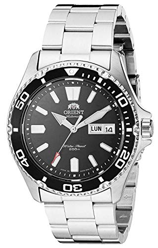 Orient Mako USA II Japanese Automatic Sport Watch with Stainless Steel Strap, Silver, 21 (Model:...