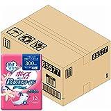 【ケース販売】 ポイズ 肌ケアパッド 多量モレに安心用(超吸収ワイド)300cc 12枚 ×9パック入り (女性の軽い尿もれ用)