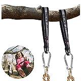 Jadpes Kit de Colgar de Correas Fuertes de Tree Swing, Conexión de Barra Horizontal de 45 cm con Accesorios para Columpios, 2 Piezas de Correas para Columpios de árbol Kit para C