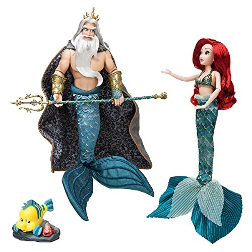 Ariel and Triton Doll Set - Disney Designer Fairytale Collection - Limited Edition