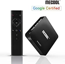 Android TV Box 9.0, MECOOL Smart TV Box with Google Certified, 2GB RAM 16GB ROM Quad Core Android Box Support Voice Remote, Chromecast, 3D Ultra HD 4K, 2.4G WiFi (Support Netflix SD, Not HD)