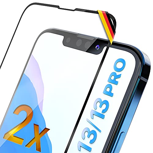 UTECTION 2X Full Screen Schutzglas 3D für iPhone 13/13 PRO (6.1