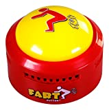 Fart Button - Play 20 Funny Poop Noise and Farting Sounds - Giant Yellow Sound-Maker Button Flashes and Lights...