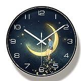 Relojes de pared Relojes de pared grandes de diseño moderno silencioso creativo redondo de 35 cm para decoración de moda para el hogar Reloj de pared moderno silenciososilencioso decorativo