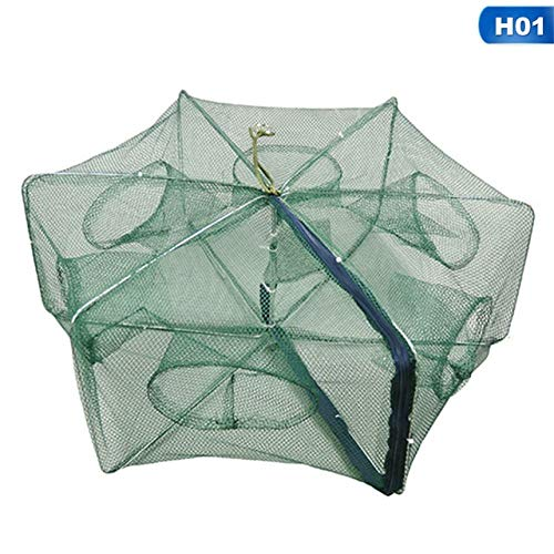 YMYGCC Fish trap Portable Folding Fishing Nets Cages Network Casting Fishes Shrimp Crayfish Catcher Nets 21 (Color : 01)