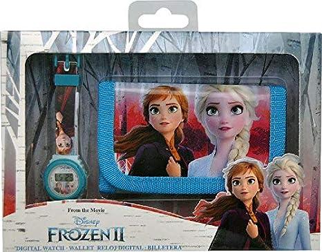 Frozen Set Digitale Uhr und Geldbörse in Box mit 2 Armbändern, Unisex, Mehrfarbig, Einheitsgröße