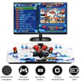 SupYaque Pandora Box Retro Video Arcade Games Console Built 2222 Games in 1 with Full HD 2 Players Joystick and Buttons (Red Joystick)