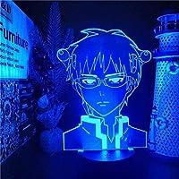 GMYXSW 3DナイトライトアニメSaiki K LEDアニメランプ3Dイリュージョンナイトライトカラー変更テーブルランプのためのテーブルランプ男の子と女の子のための贈り物