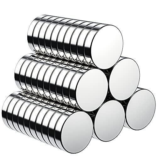 BUSATIA 60 calamite rotonde per lavagne magnetiche, lavagnetta magnetica, bacheca, con scatola di conservazione (10 x 2 mm)