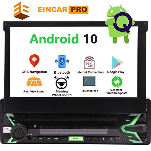 EINCAR 1 Din Autoradio Android Bluetooth Navi 1Din Auto Radio Mit 7Zoll Bildschirm Ausfahrbar Touchscreen Display Navigation Rueckfahrkamera& &USB &Freisprecheinrichtung Mirrorlink Cd 2G+32G
