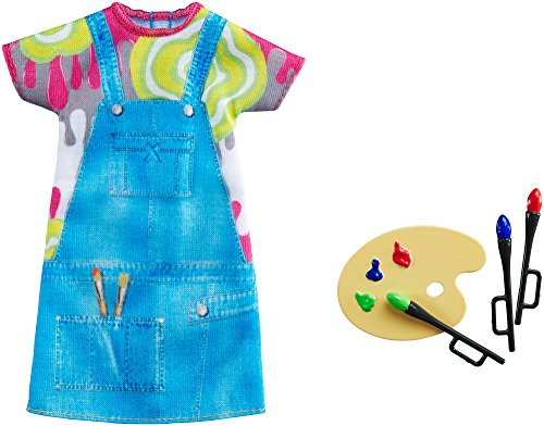 Barbie Fashions - Painting Pretty Artist Doll Outfit with Colour Palette &...