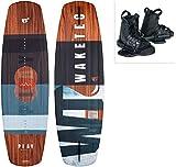 WAKETEC Wakeboard-Set Play mit Moto Bindung, Package für Anfänger und Fortgeschrittene, 134 cm 139 cm, leicht zu Fahren, Körpergewicht 40-85 kg, Kinder Erwachsene Einsteiger, Größe:L-XL, Länge:139 cm