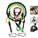 Camera Safety Tether, Stainless Steel Cable Wire Colorful Coating Lanyard with Hook Carabiner Clip for GoPro Hero 7 6 5 4 3 Session DJI Osmo Action and Other Action Camera