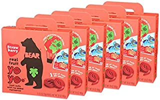BEAR   Real Fruit Yoyos Snack   Non-GMO   Gluten-Free   All-Natural   Strawberry   0.7 Ounce (30 Count)