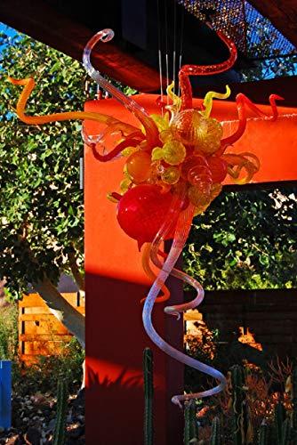 SHIJING Geblazen glazen kroonluchter Moderne Murano glaslamp Loft-lamp