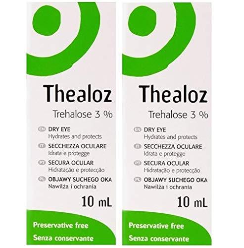 2 x Thealoz 10ml für Treament of Trockene Auge und Blephaclean Probe
