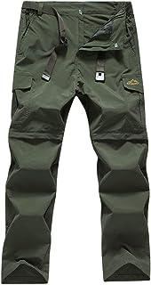 Mens Lightweight Hiking Pants Convertible Zip Off Trekking Fishing Pants