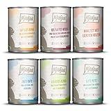 MjAMjAM - Premium Nassfutter für Katzen - Mixpaket II - Wild & Kaninchen, Pute, Ente & Geflügel, 1er Pack (6 x 400 g), getreidefrei mit extra...