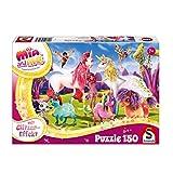 Schmidt Spiele- Puzzle de Paillettes Arrivée des Licornes Poney 150 pièces, 56247