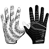Cutters Rev Pro Ultra Grip Football Wide Receiver Gloves, Youth and Adult Size No Slip High Tack, 1 Pair S252 3.0 Protective Gear, Black, Adult: Medium