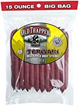 Old Trapper Teriyaki Deli Style All Beef Sticks | 15 Oz Bag