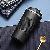 Jusemao Botella de agua para coche de 510 ml, estilo simple, con tapa de rebote, apta para el hogar y la oficina, color negro, 510 ml