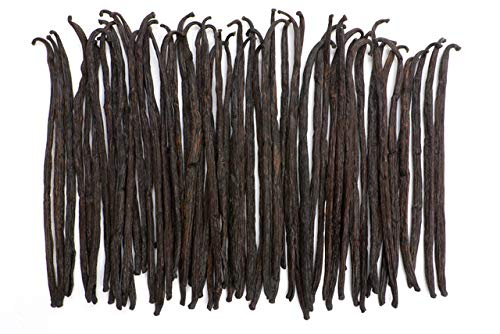 1 lb Bulk Bag – Grade B Tahitian Vanilla Beans – Native Vanilla – Premium Extract Whole Bean Pods – For Chefs and Home Baking, Cooking, & Extract Making – Homemade Vanilla Extract