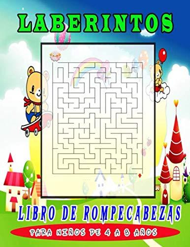 Laberintos Libro de Rompecabezas para niños de 4 a 8 años: Libro de actividades de laberinto para niños. Ideal para desarrollar divertidas habilidades de aprendizaje para niños