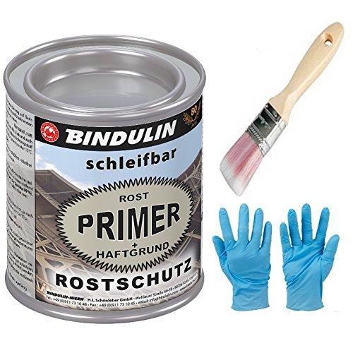 Rostprimer, Rostschutzgrundierung, Autogrundierung mit eingebautem Haftgrund Farbe: grau inkl. Pinsel von E-Com24 zum Auftragen (250 ml)