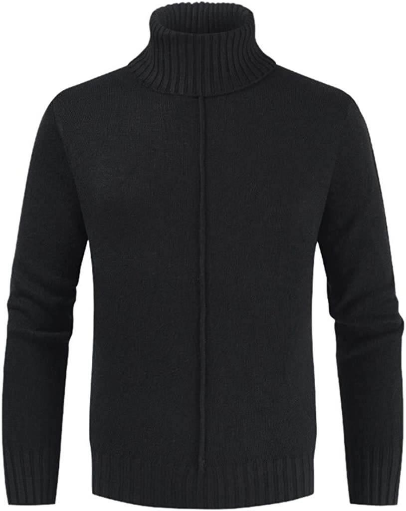MODOQO Men's Turtleneck Sweater Winter Casual Knitted Pullover Sweater
