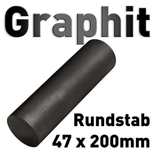 Graphit Rundmaterial 47mm x 200mm lang Zylinder Elektrode Stab Kohlenstoff 8