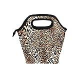 CPYang - Fiambrera térmica con estampado de leopardo para la escuela, trabajo, oficina, picnic
