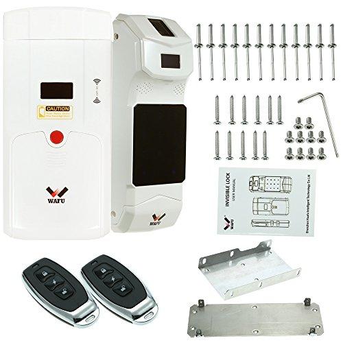 Festnight Kit serratura porta telecomando Serratura della porta senza chiave con impronta digitale Smart Lock antifurto per la sicurezza domestica con tastiera Fingerprint + 2 telecomandi