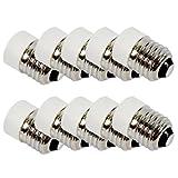 TOOGOO(R)) 10-Stecker auf E27 E14 Buchse Base LED-Licht-Lampe Birnen-Adapter-Konverter