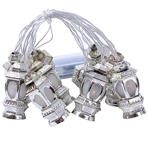 ACCEDE Outdoor String Lights 1.65 M 10 led White Ramadan ,Garden Lighting for Home, Yard, Party, Festival, Christmas, Decoration (Warm White)