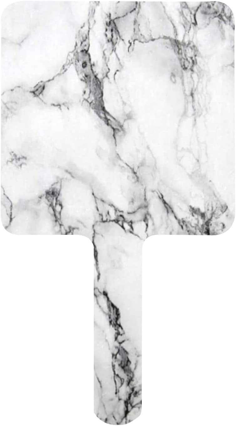Hand Mirror stoneTexure White with Ranking TOP9 Handheld Regular discount Marble Small