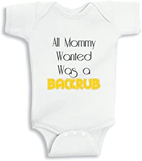 All Mommy Wanted was A Backrub Personalized Baby Bodysuit