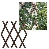 Bonerva Enrejado Extensible de PVC | Celosía Extensible | Valla jardín | 1 x 2...