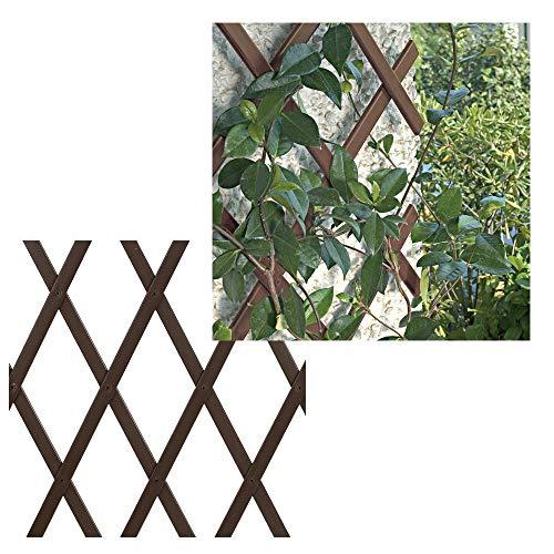 Bonerva Enrejado Extensible de PVC | Celosía Extensible | Valla jardín |...