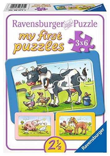 Ravensburger Puzzle Kinder Gute Tierfreunde, Rahmenpuzzle, My First Puzzles Für Kinder Ab 2.5 Jahren, 18 Teile