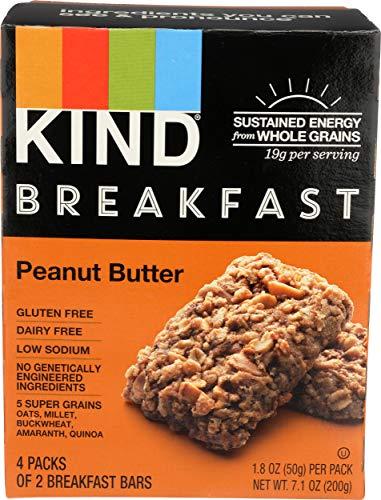 KIND Breakfast Breakfast Bars, Peanut Butter, 6.96 oz (Pack Of 4)