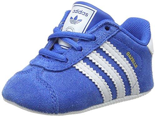 adidas Unisex Baby Gazelle Crib Hausschuhe, Blau (Azucie/Ftwbla/Ftwbla 000), 20 EU