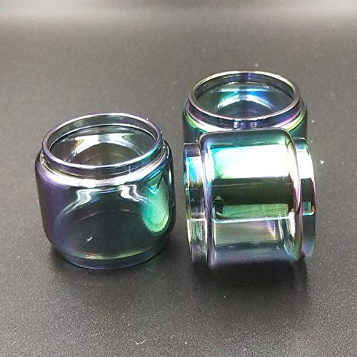 CENGLORY Glass Tube Anti Slip Rings Glass for RBA RDA Tank Mechanical Mod TFV12 Prince - 24mm Tall Glass Replacement Tubes 28mm OD 8mL (3PCS,Rainbow)