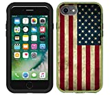 Teleskins Protective Designer Vinyl Skin Decals/Stickers Compatible with Lifeproof Slam iPhone 7 / iPhone 8 / SE 2020 Case -Grunge USA American Flag Design Patterns - Only Skins and Not Case