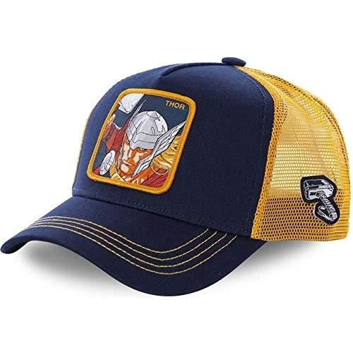 Gorra de béisbol de algodón Snapback Hombres y Mujeres, Gorra de Camionero de Malla de papá Hip Hop-Thor