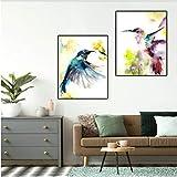 Jwqing Kolibri Drucke Bunte Poster Aquarell Tier Malerei