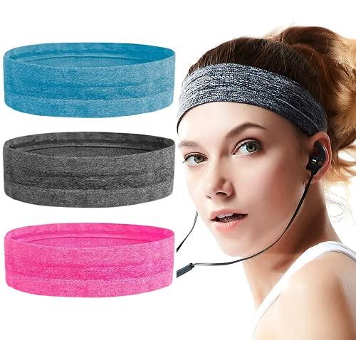 KARLOR Sport Stirnband Yoga Stirnband Sport Anti Schweiß Stirnband Schweißabsorbierendes Stirnbänder, 3 Stück