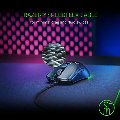 Razer Viper Mini – Ultra light Gaming Mouse (Ultraleichte beidhändige Gamer Maus mit 61g Gewicht, Speedflex-Kabel, optischer 8.500 DPI Sensor und RGB Chroma Beleuchtung) Schwarz - 4